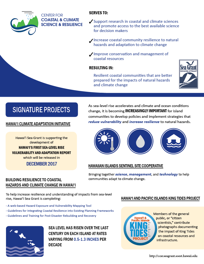 Center for Coastal & Climate Science & Resilience Infographic