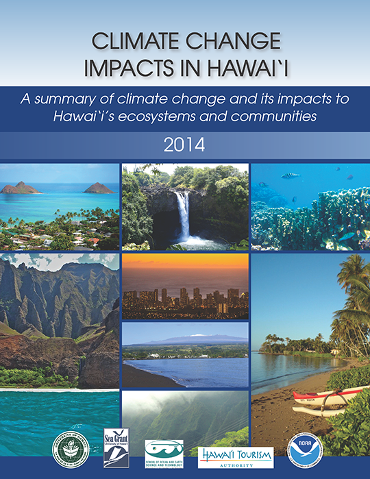 Cover of Climate Change in Hawaii publication, 2014
