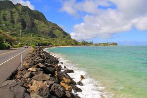 Oahu armored shoreline