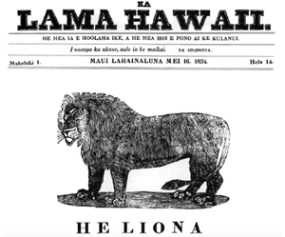 Native Hawaiian newspaper cover