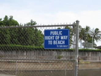 public right of way to the beach sign