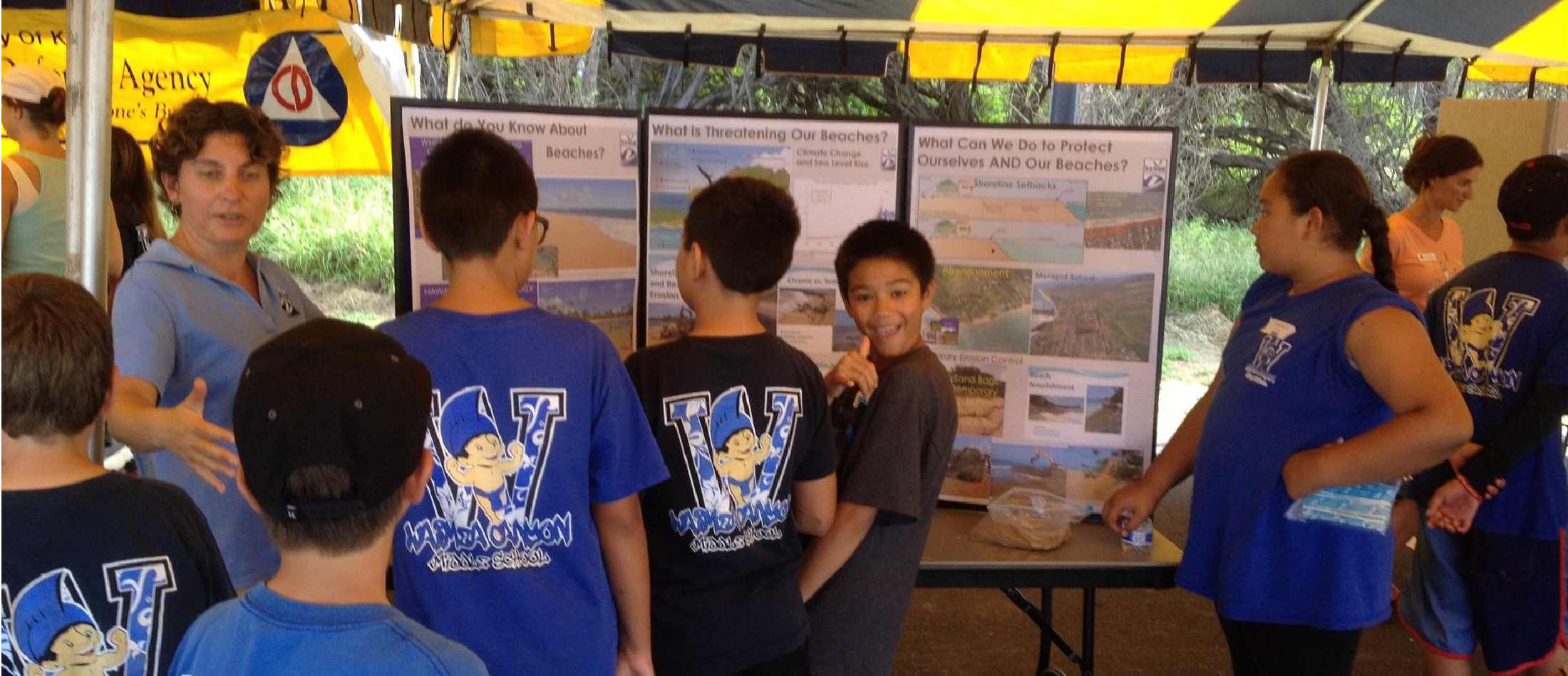 students participating in coastal planning