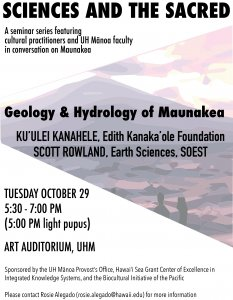 Sciences and the Sacred: Conversations on Maunakea