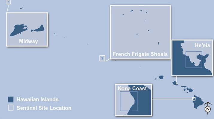 map of sentinel site locations