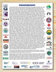 Image of Acknowledgements page including all partner logos and names.
