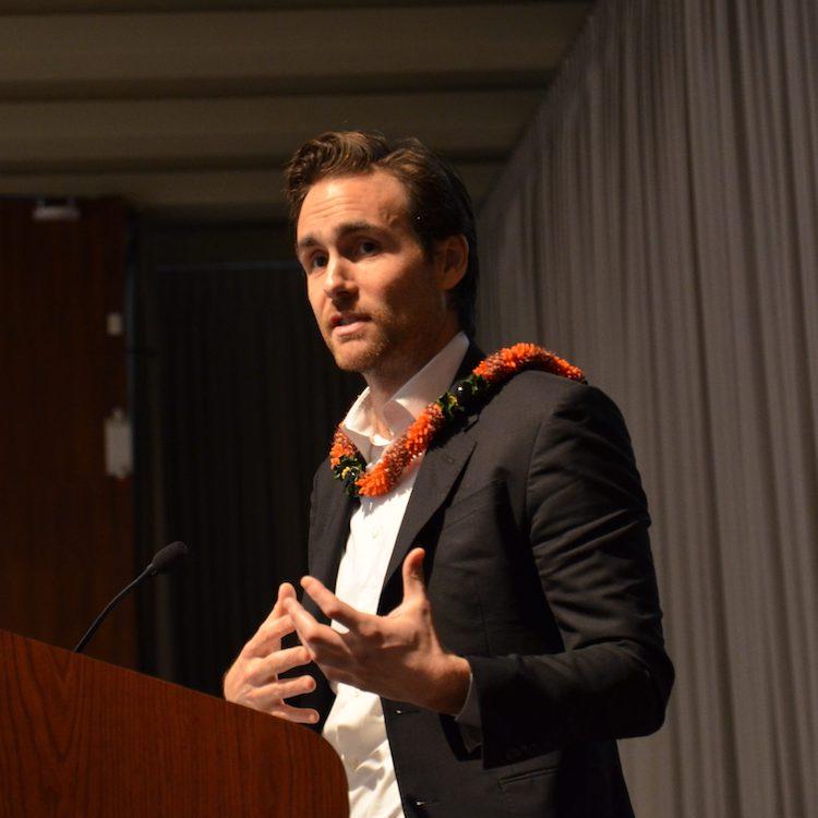 David Wallace-Wells at podium