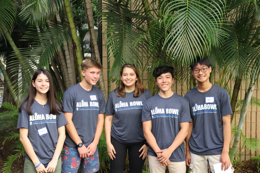 Punahou Aloha Bowl team first place 2020