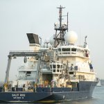 Research vessel on the water