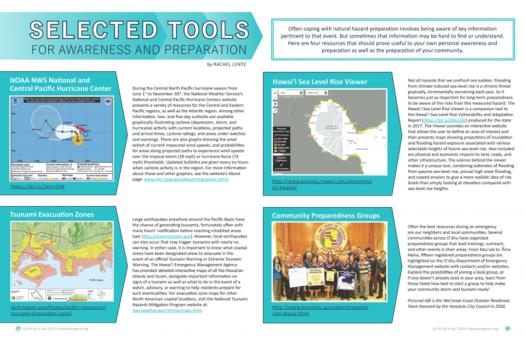 Entire article layout featuring images of various maps, webplatform and community preparedness group photo