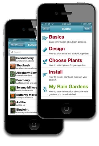 UCONN Rain Garden App