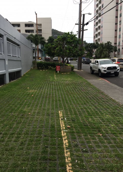 Pervious pavers-car wash area-Makiki, Honolulu