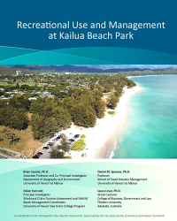 Cover of report with aerial photo of kailua beach park