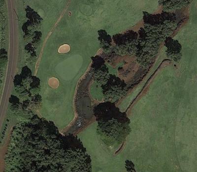 Stream on Poipu Golf Course