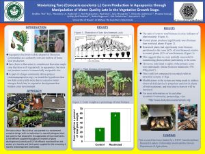 Poster of kalo research